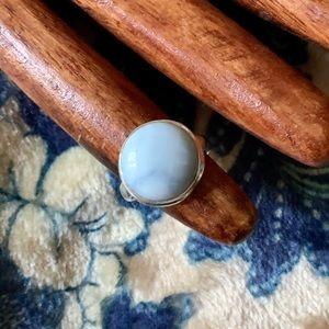Oregon Blue Opal/Sterling Silver Ring